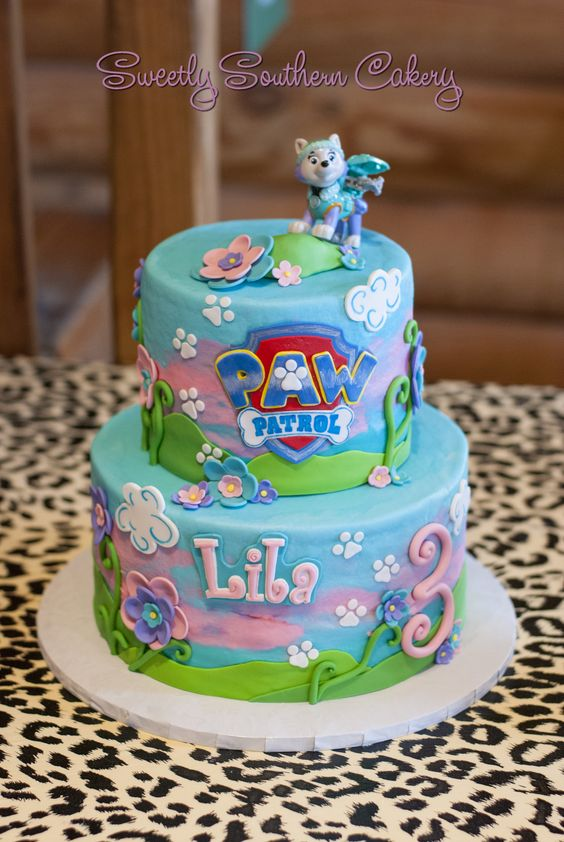 Paw Patrol Everest Cake | Girl Paw Patrol Party Ideas | Pretty My Party