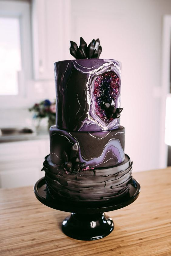 15 Crystal Geode Birthday Cakes Pretty My Party
