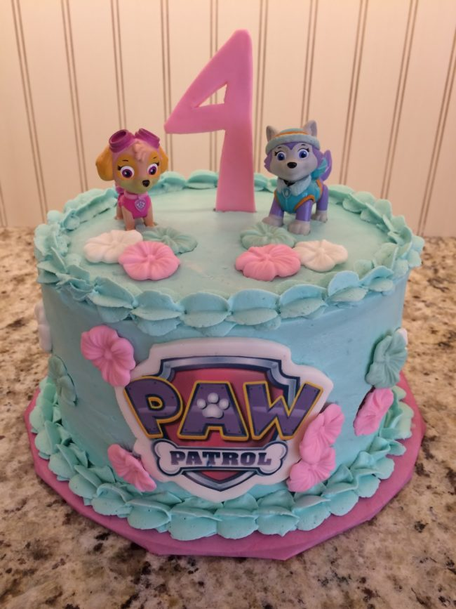Skye And Everest Girls Paw Patrol Birthday Cake