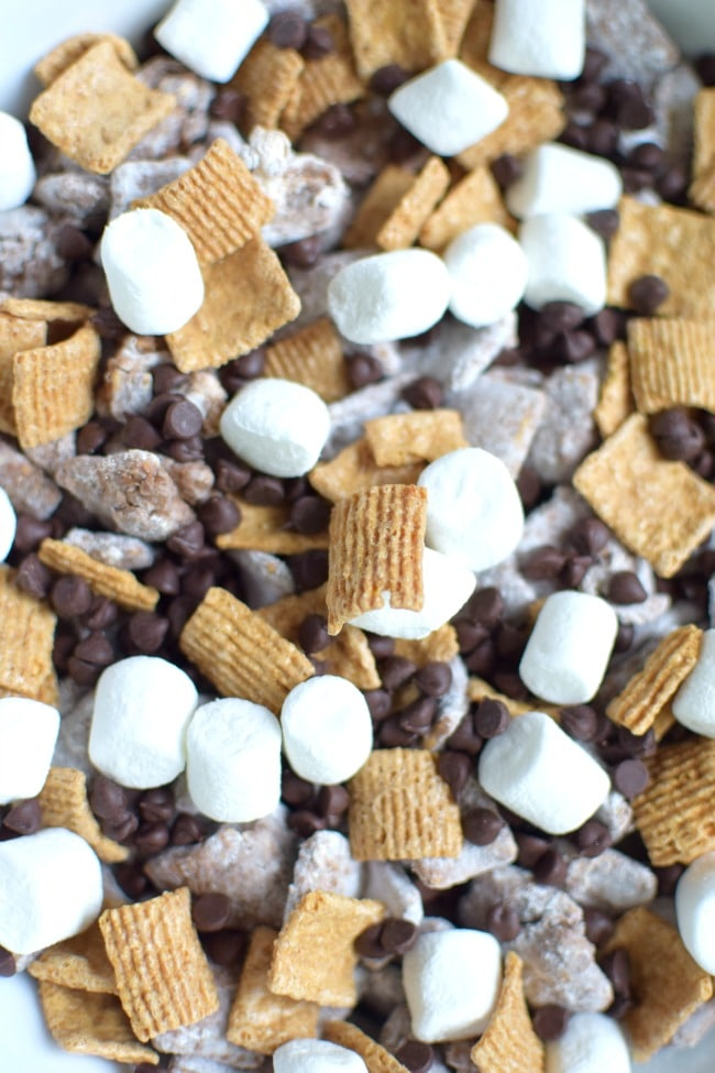 S'mores Puppy Chow Recipe | Pretty My Party