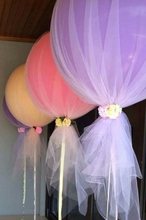 DIY Tulle Balloons | DIY Balloon Ideas | Pretty My Party