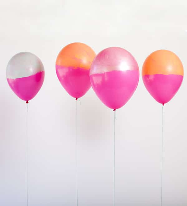 Two Toned Balloons | DIY Balloon Party Ideas | Pretty My Party