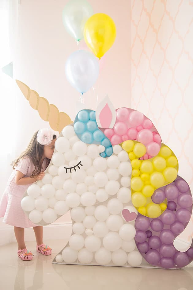 DIY Unicorn Balloon Decoration | DIY Balloon Party Ideas | Pretty My Party