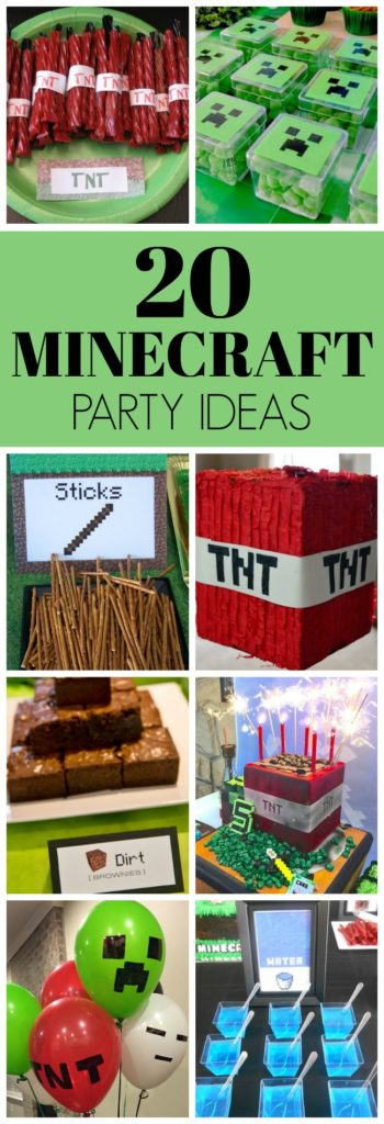 20 Kids Minecraft Party Ideas - Pretty My Party