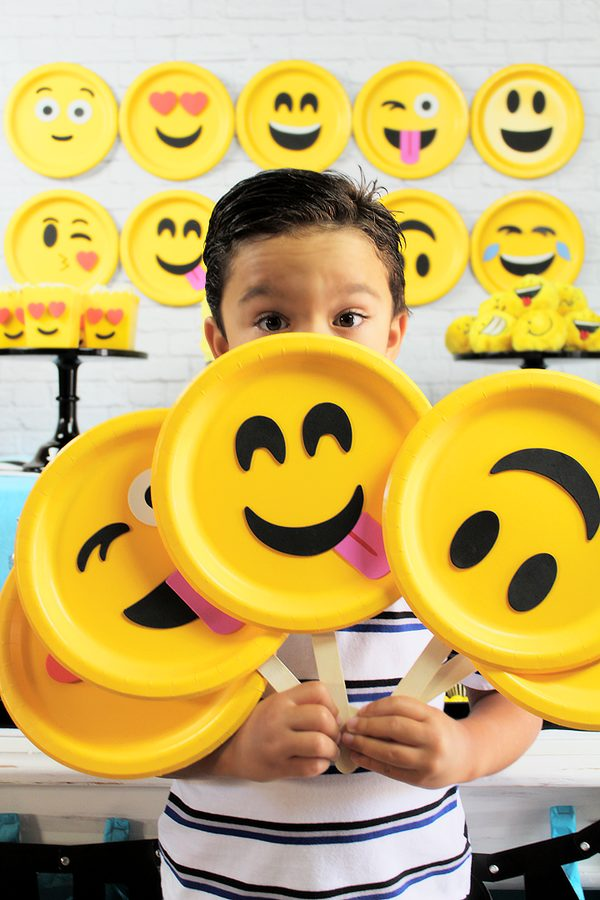 DIY Emoji Party Props | Emoji Birthday Party Ideas