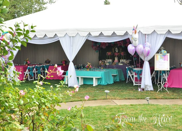 Unicorn and Rainbows Birthday Party featured on Pretty My Party