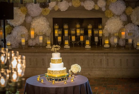 Elegant Gold, Black and White Wedding