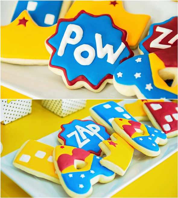 Wonder Woman Birthday Party Cookies | Pretty My Party