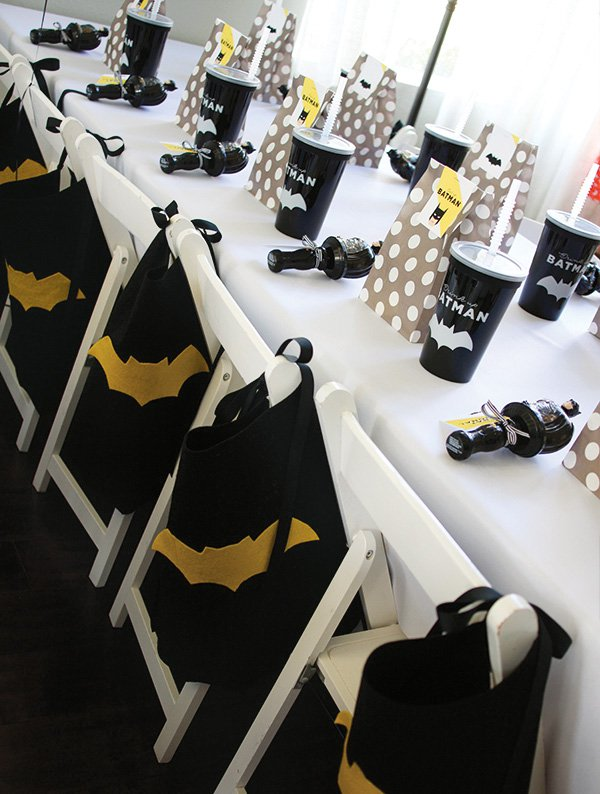 Batman Party Ideas | Caped Chairs
