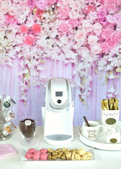 How to set up a Bridal Shower Coffee Bar