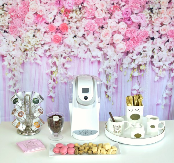 How To Set Up A Bridal Shower Coffee Bar Pretty My Party
