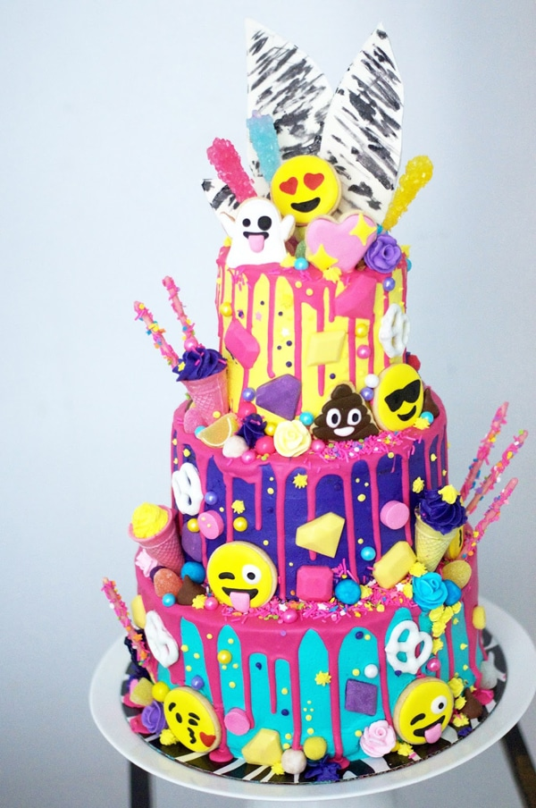 Candy Emoji Birthday Cake | Emoji Birthday Party Ideas
