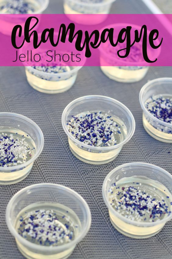 Champagne Jello Shots - Fun Bachelorette Party Ideas