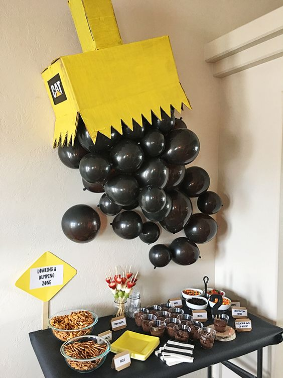 Construction Birthday Party Table Idea