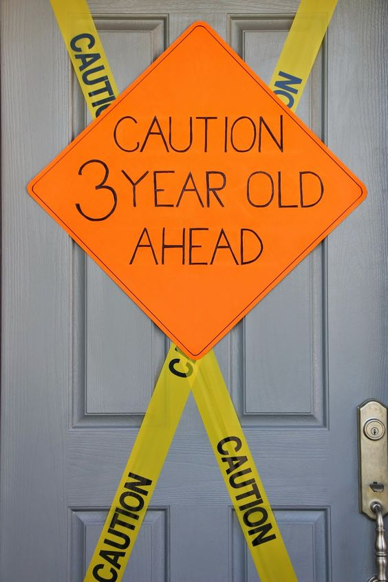 DIY Construction Party Sign