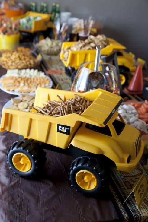 Construction Birthday Party - Dump Truck Snack Servers
