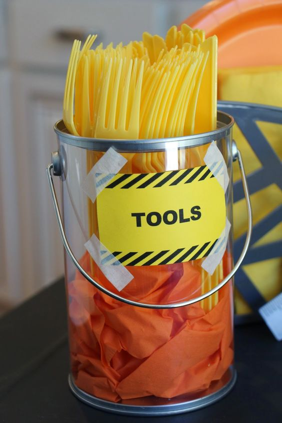 Construction Party Tools Utensils