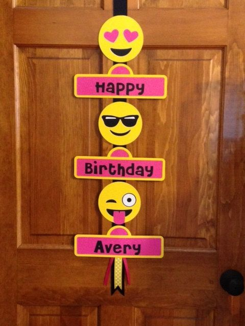 Emoji Birthday Sign | Emoji Birthday Party Ideas