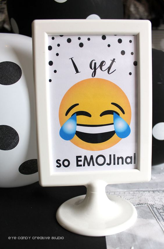 Emoji Party Sign | Emoji Birthday Party Ideas