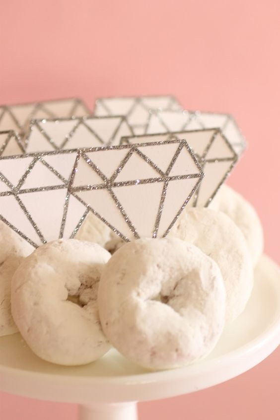 Engagement Ring Donuts - Easy Bachelorette Party Ideas