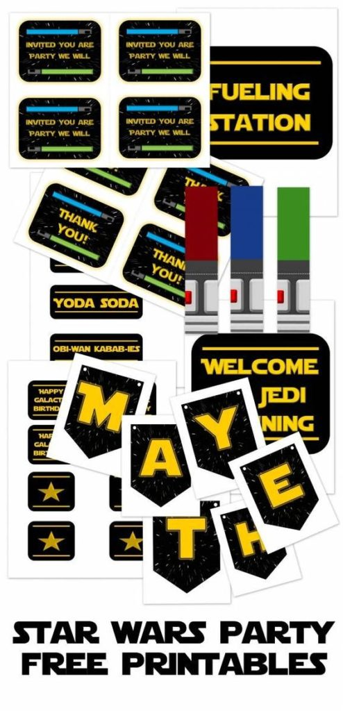 Free Star Wars Party Printables   Star Wars Party Ideas
