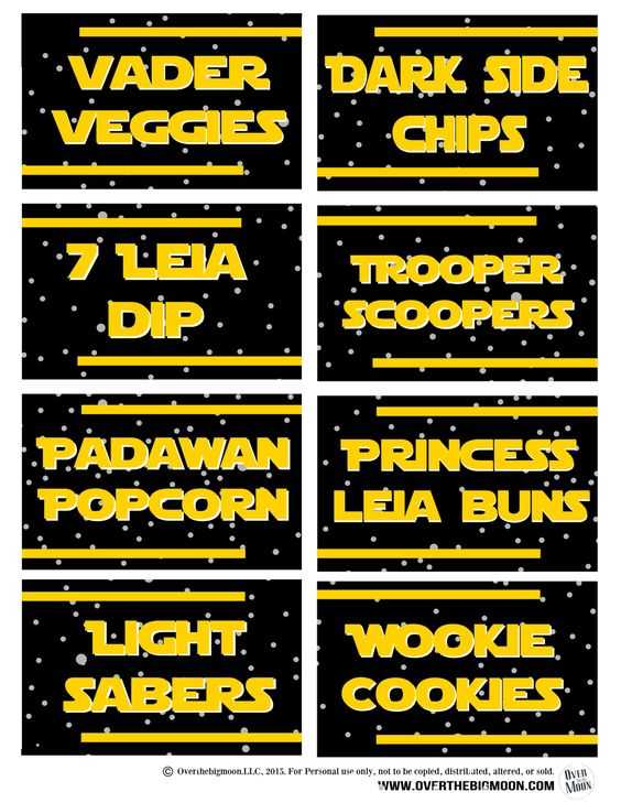 Free Stars Wars Party Printables