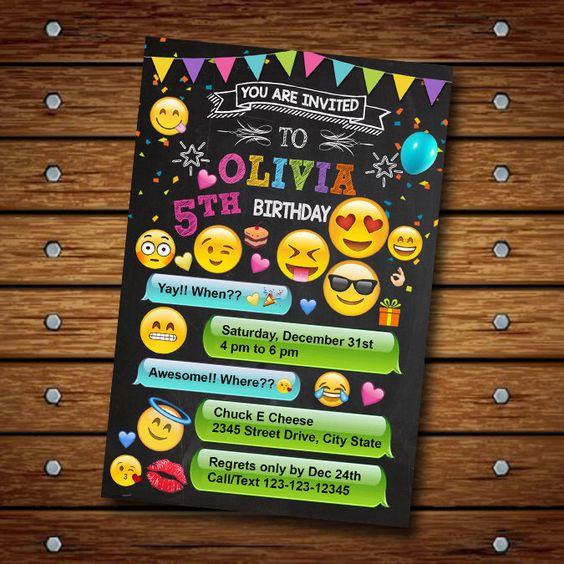30 Emoji Birthday Party Ideas