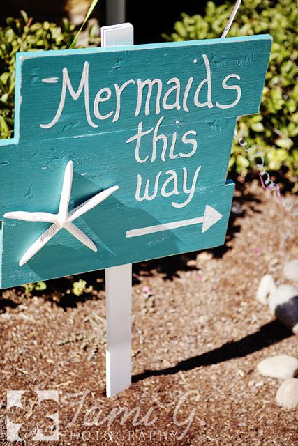 Mermaid Party Ideas | Party Sign