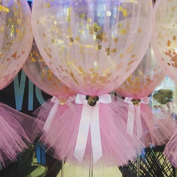 Gold And Pink Polka Dot Balloons Idea
