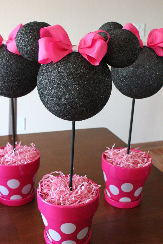 diy minnie mouse table centerpieces