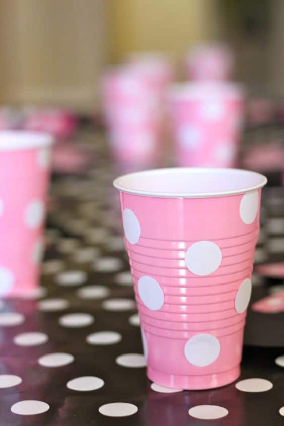 Polka dot party cups