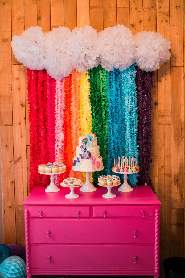 My Little Pony Cake Table | My Little Pony Party Ideas