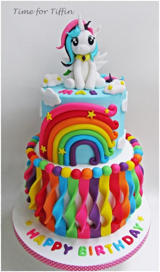My Little Pony Rainbow Cake | My Little Pony Party Ideas