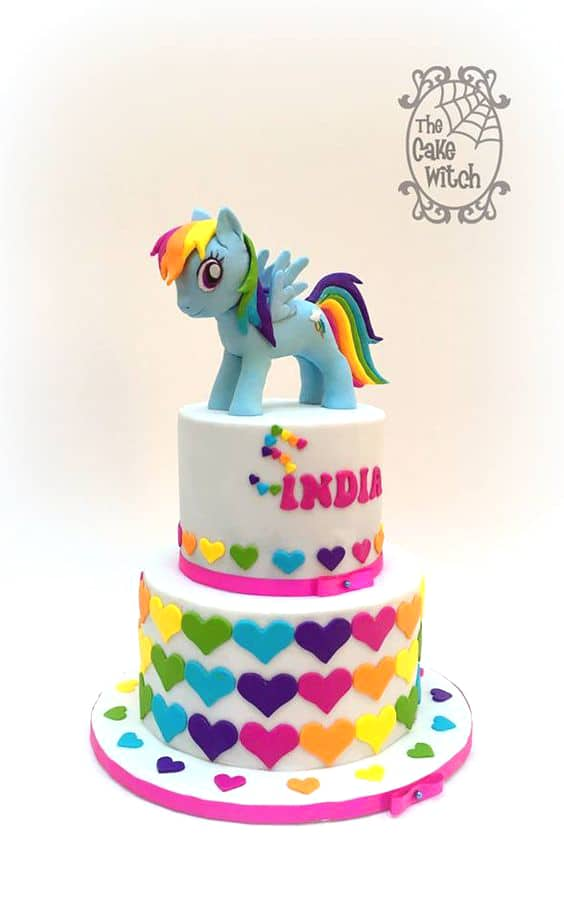This Rainbow My Little Pony Heart Cake Is Another Perfect Idea For Your Birthday Girl
