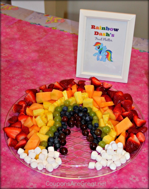 Rainbow Dash Fruit Platter | My Little Pony Party Ideas