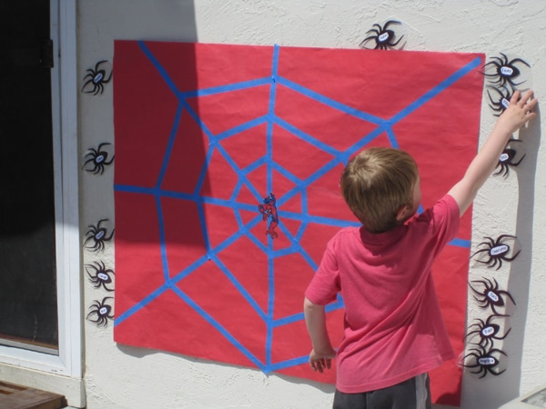 Spiderman Pin the Spider on the Web Game