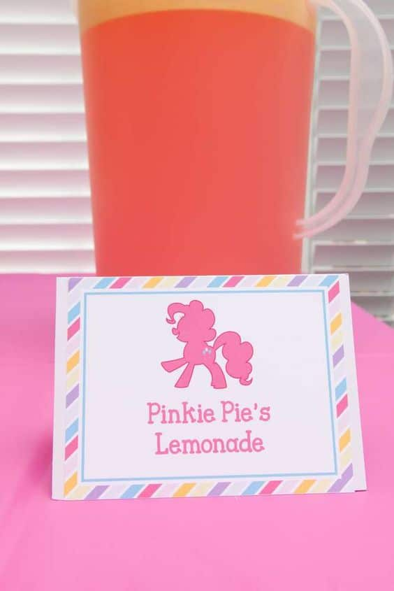 Pinkie Pie's Lemonade | My Little Pony Party Ideas