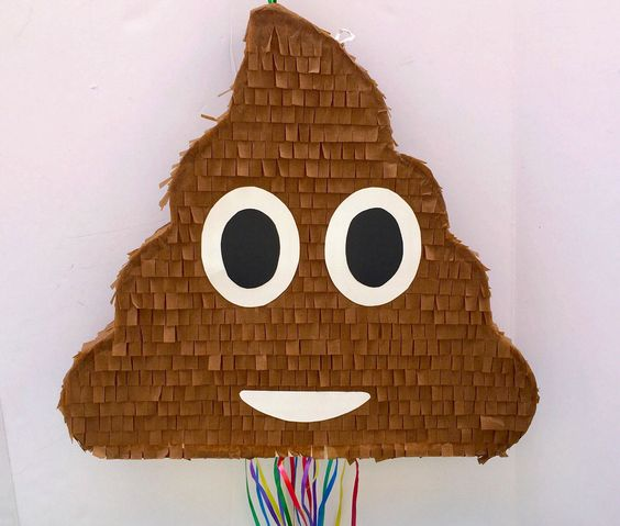 Poop Emoji Pinata | Emoji Birthday Party Ideas