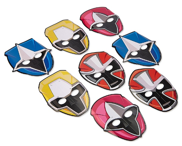 Power Ranger Party Masks | Power Rangers Party Ideas