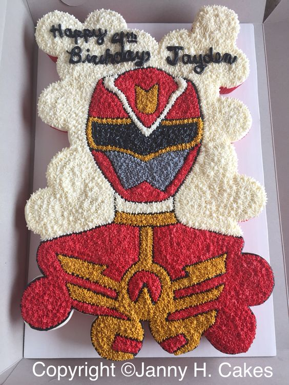 Power Rangers Cupcake Cake | Power Rangers Party Ideas