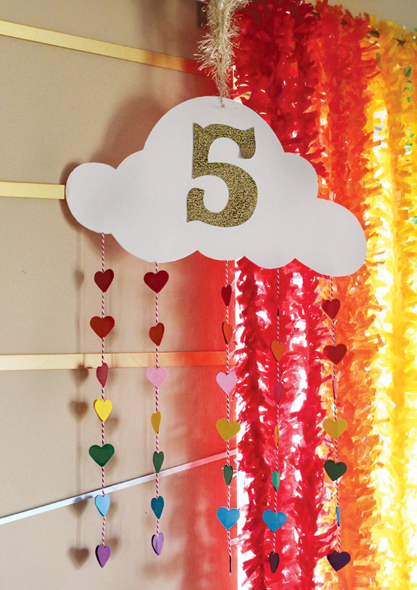 Rainbow Cloud Party Decor | My Little Pony Party Ideas