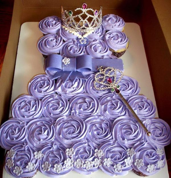 Sofia The First Cupcake Cake Party Ideas