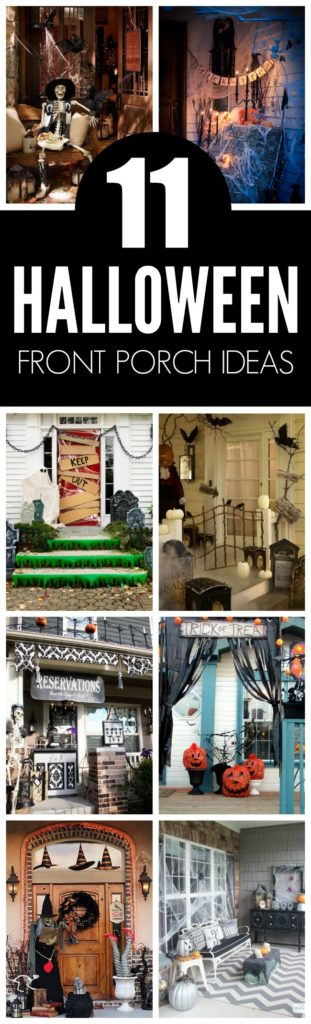 Halloween Porch Decorations - Pretty My Party