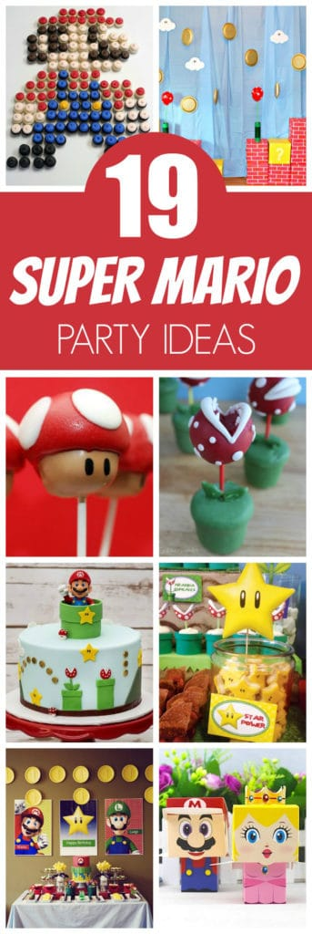 19 Awesome Super Mario Birthday Party Ideas Featured On Pretty My