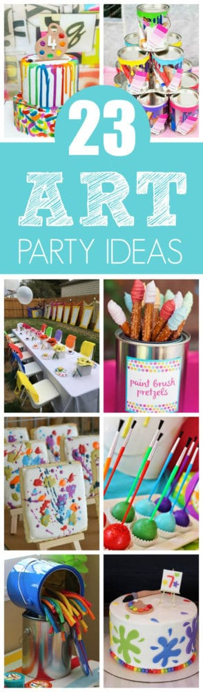 23 Creative Art Themed Party Ideas - Kids Art Themed party Pretty My Party