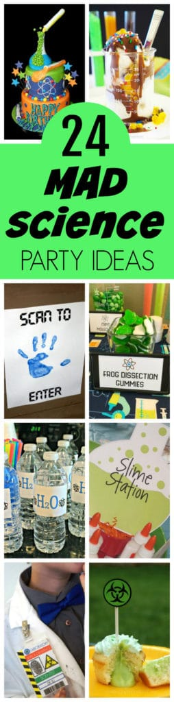 24 Insane Mad Scientist Party Ideas featured on Pretty My Party