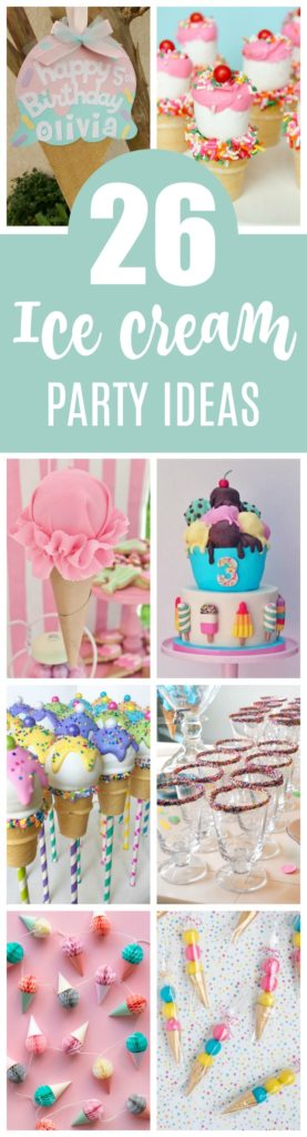 26 Sweet Ice Cream Party Ideas featured on Pretty My Party