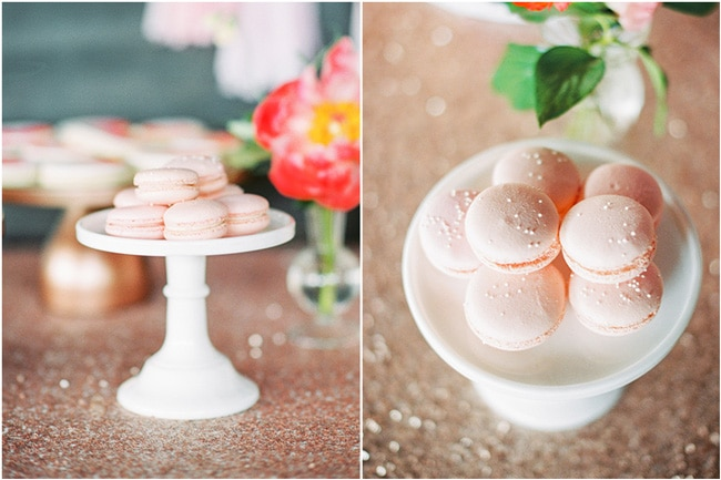 Pink Peony Inspired Baby Shower Macaroons