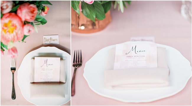 Pink Peony Inspired Baby Shower Menu