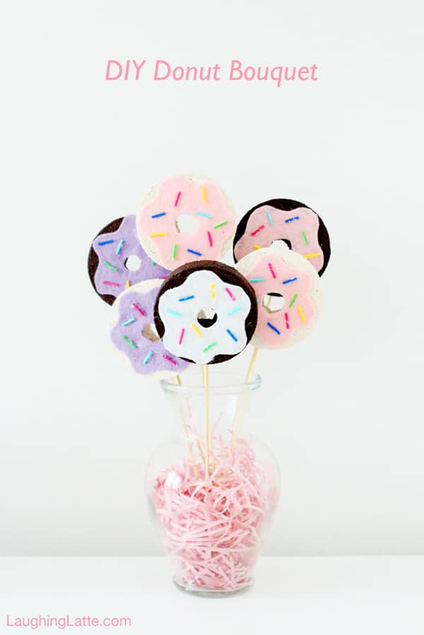 DIY Donut Bouquet | Donut Themed Party Ideas